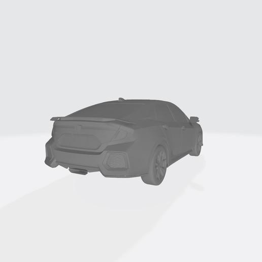 Honda Civic 2017 1234.jpg Télécharger fichier OBJ gratuit Honda Civic 2017 • Modèle imprimable en 3D, VinyassShivanand