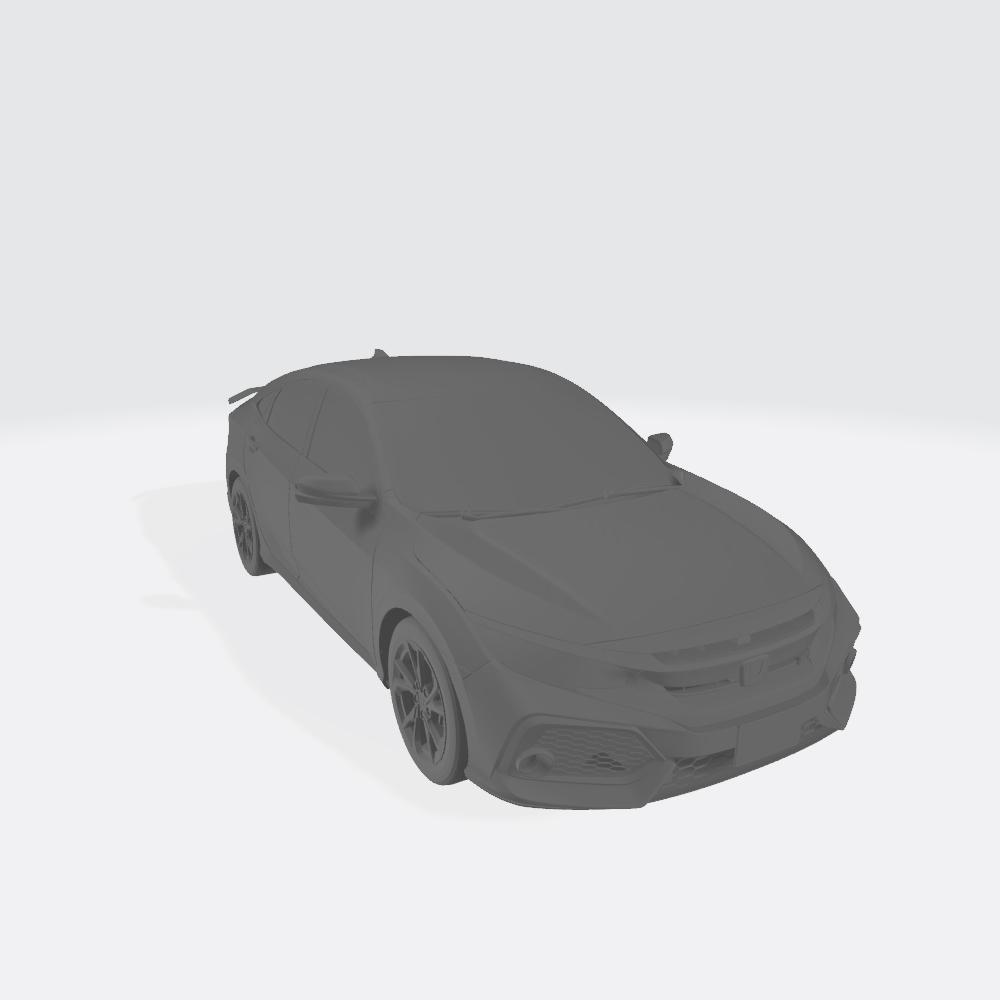 Honda Civic 2017 1.jpg Télécharger fichier OBJ gratuit Honda Civic 2017 • Modèle imprimable en 3D, VinyassShivanand