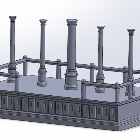 3D printer models Rostre impérial / Imperial rostrum, PierreAnne