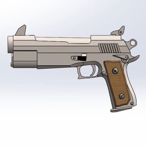 5.JPG Download STL file Fortnite gun pistol • Model to 3D print, PierreAnne