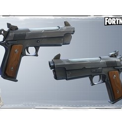 STL files Fortnite gun pistol, PierreAnne