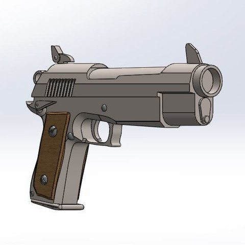 4.JPG Download STL file Fortnite gun pistol • Model to 3D print, PierreAnne