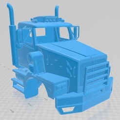Download 3D printing templates Western Star 6900 XD Printable Cabin Truck, hora80