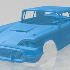 Ford Thunderbird Sport Coupe 1958-1.jpg Télécharger fichier STL Thunderbird Sport Coupé 1958 Carrosserie imprimable • Modèle pour imprimante 3D, hora80