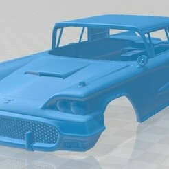 Ford Thunderbird Sport Coupe 1958-1.jpg Download STL file Thunderbird Sport Coupe 1958 Printable Body Car • 3D printable model, hora80