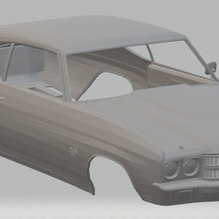 Impresiones 3D Chevelle SS Printable Body Car, hora80
