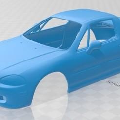 foto 1.jpg Télécharger fichier STL Honda Civic del Sol 1993 Carrosserie imprimable • Design pour imprimante 3D, hora80