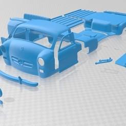 foto 1.jpg Télécharger fichier STL Camion Mercedes Benz Blue Wonder Renntransporter 1954 imprimable • Modèle pour imprimante 3D, hora80