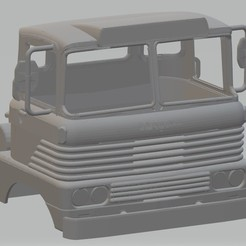 Download 3D printer templates Scammell Trunker 1960s Printable Cab, hora80