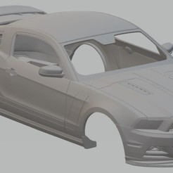 Impresiones 3D Mustang 302 Printable Body Car, hora80