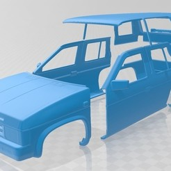 foto 1.jpg Download STL file Nissan Terrano I 1993 Printable Body Car • 3D print object, hora80