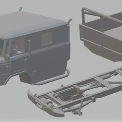 Download 3D printer files GAZ 66 Printable Truck, hora80