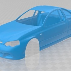 Download free 3D printer model BA UTE Printable Body Car, hora80