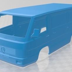 Download 3D printer templates Mercedes Benz MB100 1988 Printable Body Van, hora80