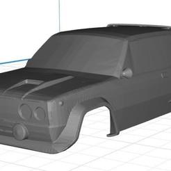 Imprimir en 3D Fiat 131 Abarth / Seat 131 Abarth Body Car Printable 3D, hora80