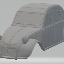 Descargar modelos 3D Citroen 2CV Printable Body Car, hora80
