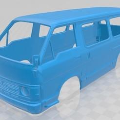 Imprimir en 3D Toyota Hiace Printable Body Van, hora80