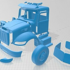 Peterbilt 340 2009-1.jpg Download STL file Peterbilt 340 2009 Printable Cabin Truck • 3D print model, hora80
