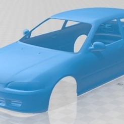 Download 3D printer designs Honda Civic 1991 Printable Body Car, hora80