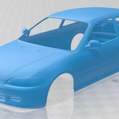 foto 1.jpg Télécharger fichier STL Honda Civic 1991 carrosserie imprimable • Modèle pour impression 3D, hora80