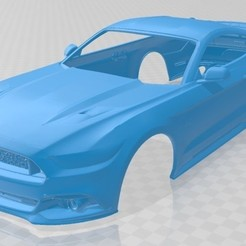 foto 1.jpg Download STL file Mustang GT 2015 Printable Body Car • 3D print object, hora80