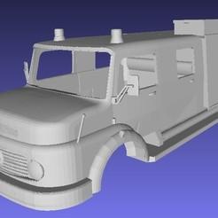 Impresiones 3D Mercedes Benz 1114 Fire Truck Printable 3D, hora80