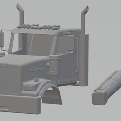 Download STL Western Star 4900SF Printable Cabin Truck, hora80