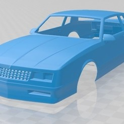 Chevrolet Monte Carlo SS 1986-1.jpg Download STL file Monte Carlo SS 1986 Printable Body Car • 3D printer template, hora80