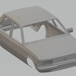 foto 1.jpg Download STL file Peugeot 305 Printable Body Car • Template to 3D print, hora80