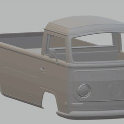 Download 3D printer designs Volkswagen T2 Pickup Printable Body Van, hora80