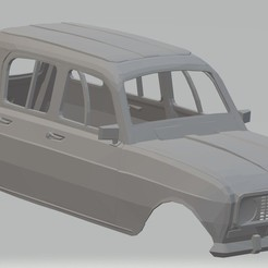 Download 3D printer model Renault 4L Printable Body Car, hora80