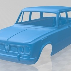 Alfa Romeo Giulia 105 1962-1.jpg Download STL file Alfa Romeo Giulia 105 1962 Printable Body Car • 3D printable object, hora80