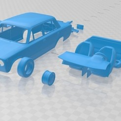 Impresiones 3D Fiat 124 1972 Printable Car , hora80
