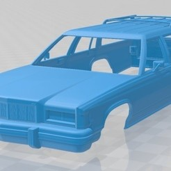 Mercury Marquis Colony Park 1981-1.jpg Download STL file Mercury Marquis Colony Park 1981 Printable Body Car • 3D printing design, hora80