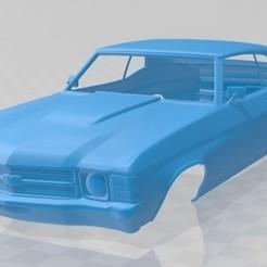 foto 1.jpg Télécharger fichier STL Chevelle SS 454 LS5 convertible 1971 Carrosserie imprimable • Modèle imprimable en 3D, hora80