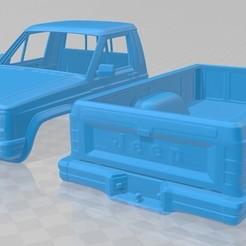 foto 0.jpg Télécharger fichier STL Jeep Comanche 1988 Carrosserie imprimable • Modèle pour impression 3D, hora80