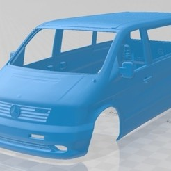 Mercedes Benz Vito 1996 - 1.jpg Download STL file Mercedes Benz Vito 1996 Printable Body Van • Template to 3D print, hora80