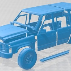 foto 1.jpg Download STL file Nissan Patrol Y60 5 Doors 1987 Printable Body Car • 3D printing design, hora80