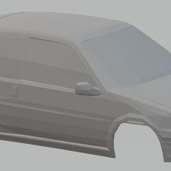Descargar STL Peugeot 106 Printable Body Car , with and without windows, hora80