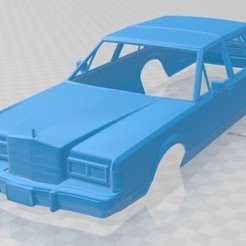 foto 1.jpg Download STL file Lincoln Town Car 1989 Printable Body Car • 3D printing object, hora80