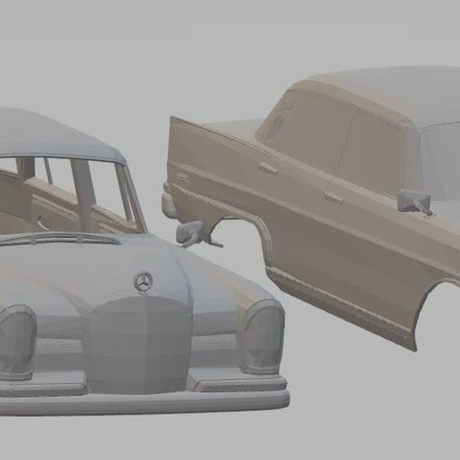 Descargar modelo 3D Mercedes 300 Sedan W112 Printable Body Car, hora80