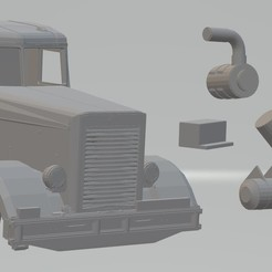 Download 3D printer designs Peterbilt 281 (Duel / El Diablo on Wheels) Printable Truck Body Cab, hora80