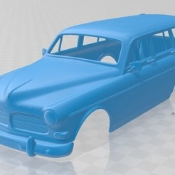 foto 1.jpg Download STL file Volvo Amazon Wagon 1961 Printable Body Car • 3D printing model, hora80