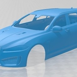 foto 1.jpg Download STL file Jaguar XFR-S Sportbrake 2015 Printable Body Car • 3D print model, hora80