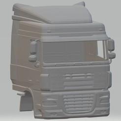 Descargar diseños 3D DAF XF Printable Cab Truck, hora80