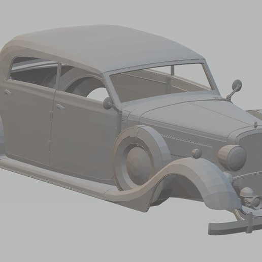 Download 3D printing designs Mercedes Benz 320 Printable Body Car, hora80