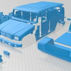 Toyota Mega Cruiser 1996 - Separado-1.jpg Télécharger fichier STL Voiture imprimable Toyota Mega Cruiser 1996 • Modèle pour impression 3D, hora80