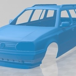 foto 1.jpg Download STL file Volkswagen Golf Variant 1993 Printable Body Car • 3D print design, hora80