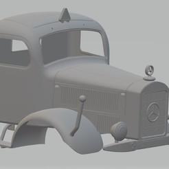 Download 3D printer templates Mercedes Benz L5000 Printable Cabin Truck, hora80