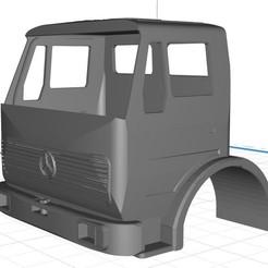 Descargar diseños 3D Mercedes 1632 Truck Body Cab, hora80